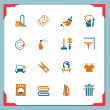 Cleaning icons | In a frame series — 图库照片