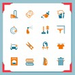 Cleaning icons | In a frame series — Stockfoto
