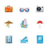 Vacation and holiday icons — Stock Photo