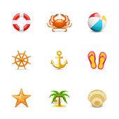 Iconos de vacaciones — Foto de Stock