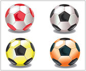 Footballs balls — Stock Photo