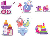 Babyish objects jn the white background — Stock Photo