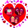Foto Stock: Valentines background
