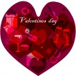 Valentines day,abstract background. — Stock Photo