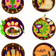 Passover holiday icons, - 图库照片