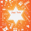 Purim background,jewish religious holiday. — Stock Photo