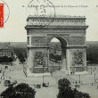 Vintage postcard of Paris — Stock Photo