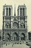 Vintage postcard of Paris — Stock Photo