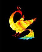 Beautiful bird — Stock Vector