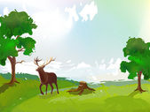 Red Deer — Stock Vector