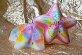 Two pieces of soap in the form of star — Stock Photo