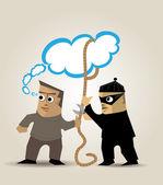Zloděj myšlenek — Stock vektor