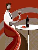 Taste wine — Stock Vector