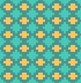 ピクセル格子シームレス パターン ベクトル — ストックベクタ