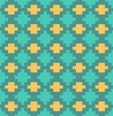 Vektor pixel galler seamless mönster — Stockvektor