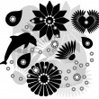 Vector collection of silhouettes - Vettoriali Stock 