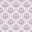Vector hearts seamless pattern — Stock Vector