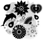 Vector collection of silhouettes — Stock Vector