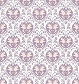 Vector hearts seamless pattern — Stock Vector