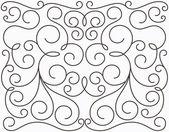 Vector swirly symmetric design — Stock Vector