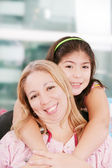 Portrait of a nurse and a little girl — Stock Photo
