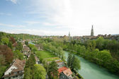 View on the river near the ancient city of Bern, Swiss — Stock Photo