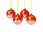 Sale with christmas decoration — Stock Photo