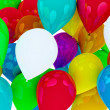 Many colored balloons forming a bright background wallpaper imag — Photo