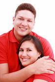 Mutlu, genç bir çiftin birlikte karşı whi eğleniyor portresi — Stok fotoğraf