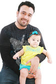 Happy father with his baby girl — Stock Photo