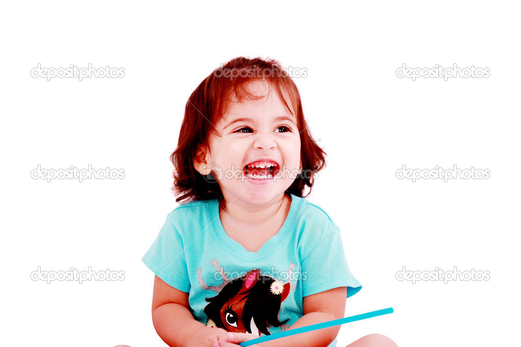 Happy little girl portrait — Stock Photo #8111954