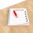 Check list note paper — Stock Photo #8196765