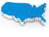Map of USA. 3d — Stock Photo