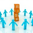 Word risk showing business investment or finance concept — Stock Photo