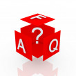 Faq 3d render illustration — Stock Photo