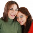 Portrait of two women laughing — Stock Photo