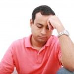 Portrait of a sad, desperate man in pain — Stock Photo