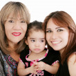 Grandmother with adult daughter and grandchild — Stock Photo