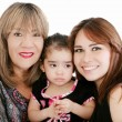 Grandmother with adult daughter and grandchild — Stock Photo #9243074