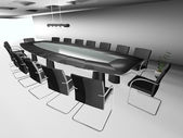 3d round conference room, isolated on white — Stock Photo