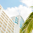 skyline of luxury high rise apartments in beach playa bonita pan — Stock Photo