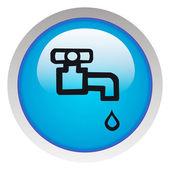 Su dokunun simgesine — Stok fotoğraf
