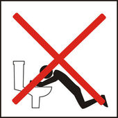 Incorrect ways of using the public toilets — Stock Photo