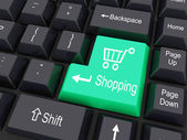 Keyboard buttons with shopping cart sign — Stock Photo