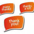 Stock Photo: Thank you - grateful color bubbles design