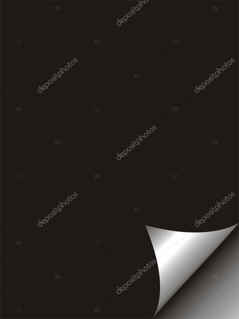 Black paper with realistic page curl. — Stock Photo #9858241