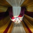 Fabric decoration on wedding party — Stock Photo