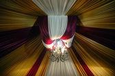 Fabric decoration on wedding party — Stock Photo