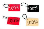 čtyři typy sto procent papíru značky — Stock fotografie