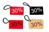 Fyra typer av trettio procent papper tag — Stockfoto